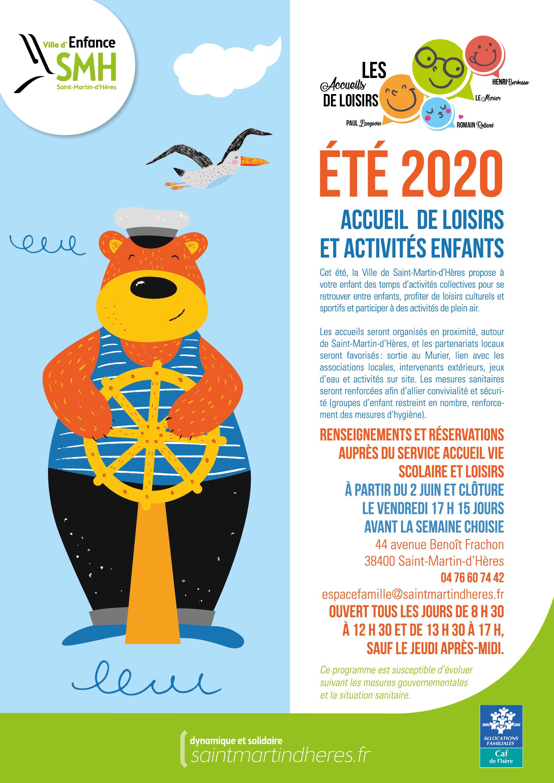 accueil de loisirs et activités enfants 2020