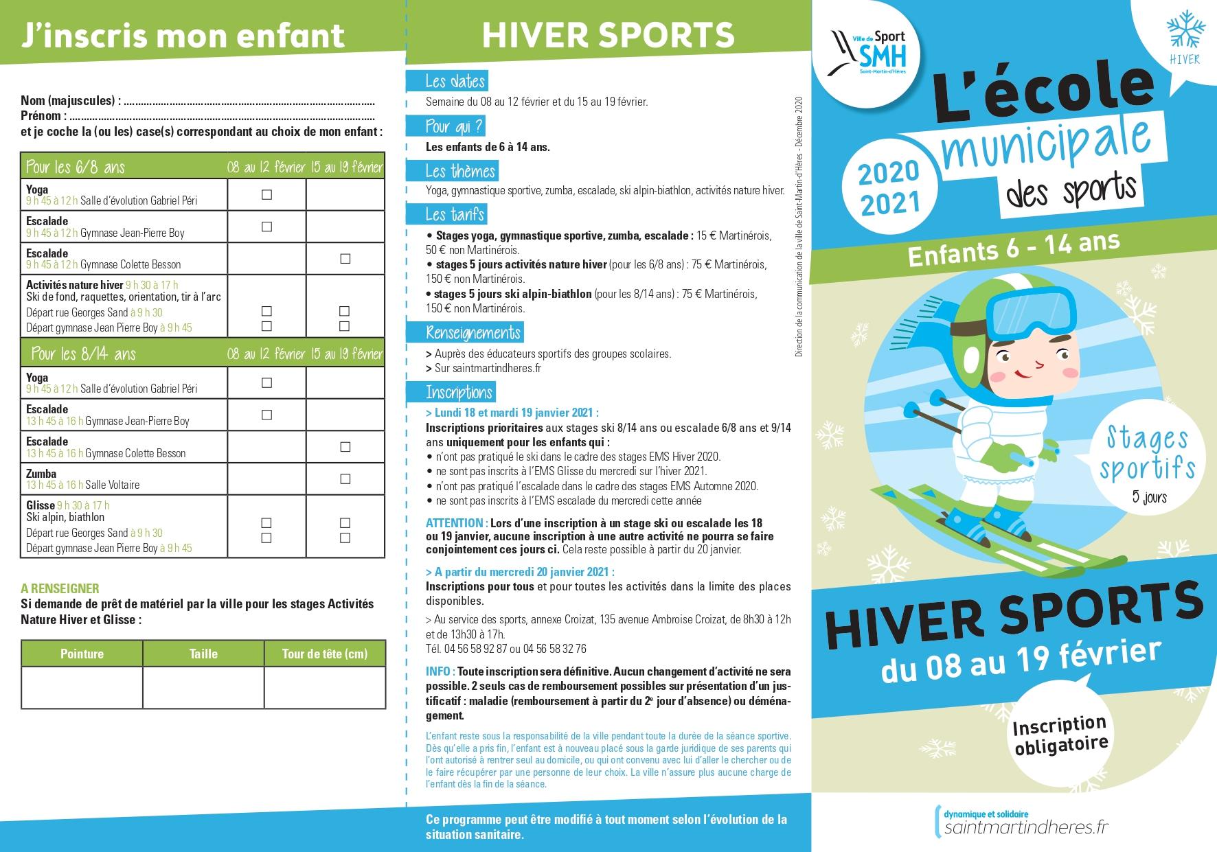 Été sports (6-17 ans) 2019