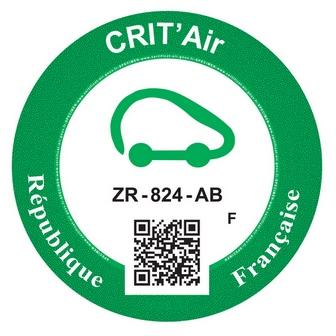 Vignette verte Crit'Air