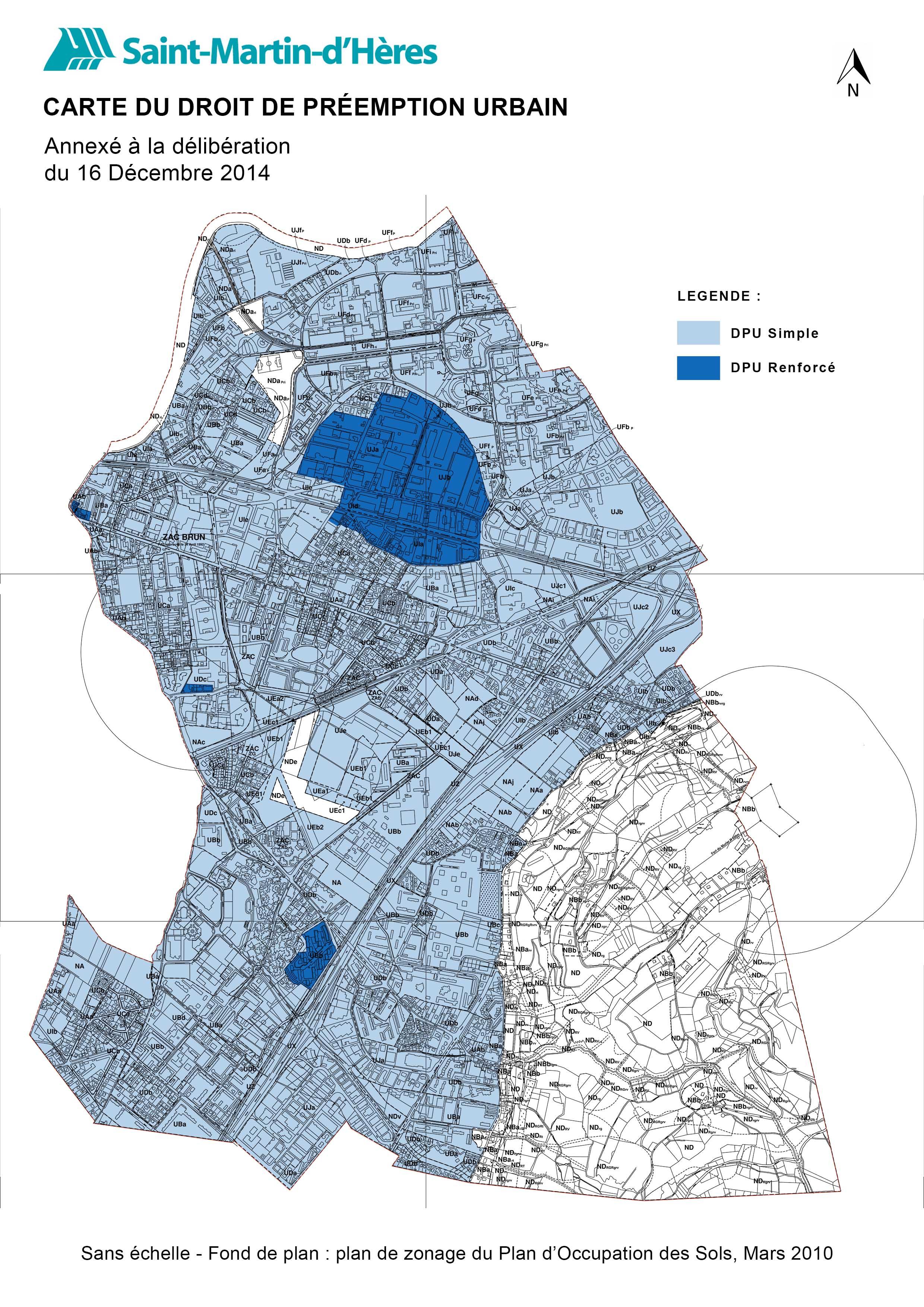 Carte générale du DPUR