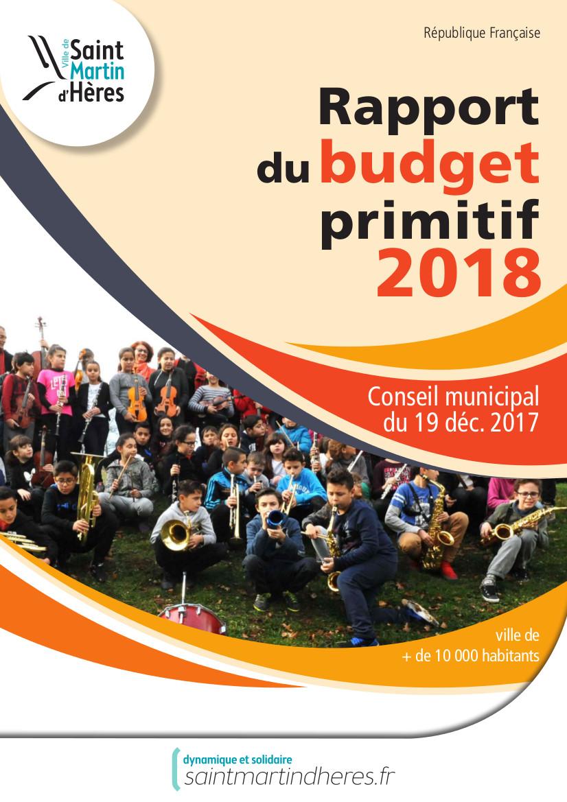 Rapport du budget primitif 2018